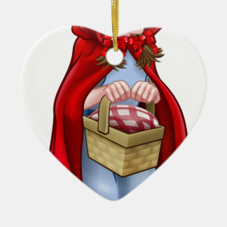 Little Red Riding Hood Fairy Tale Character Ceramic Ornament