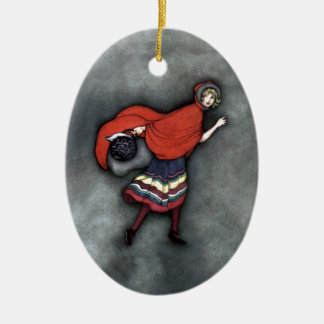 Little Red Riding Hood ~Fairy Tale~Jennie Harbour~ Ceramic Oval Decoration