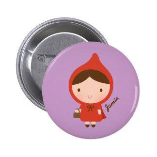 Little Red Riding Hood Fairytale for Girls Pinback Buttons