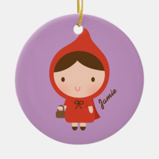 Little Red Riding Hood Fairytale for Girls Ceramic Ornament