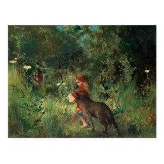 Little Red Riding Hood, fine art painting Postcard