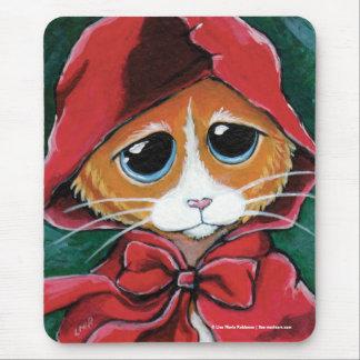 Little Red Riding Hood | Ginger Tabby Cat Mousepad