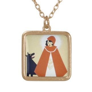 Little Red Riding Hood Gold Plated Necklace