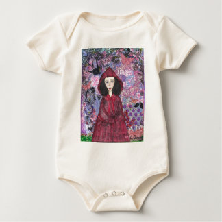 Little Red Riding Hood in the Woods 001.jpg Baby Bodysuit