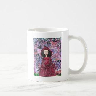 Little Red Riding Hood in the Woods 001.jpg Basic White Mug