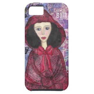 Little Red Riding Hood in the Woods 001.jpg iPhone 5 Cases