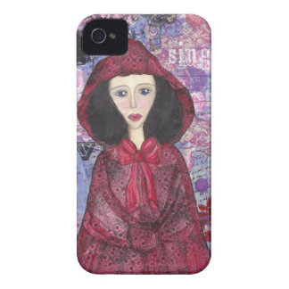 Little Red Riding Hood in the Woods 001.jpg iPhone 4 Cases