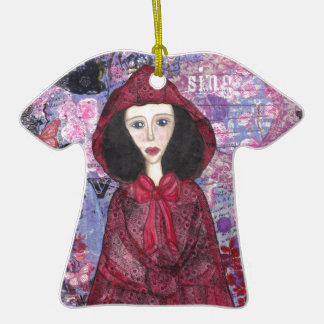 Little Red Riding Hood in the Woods 001.jpg Ornament