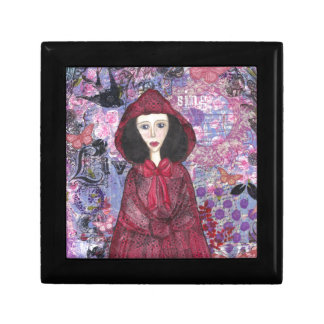 Little Red Riding Hood in the Woods 001.jpg Trinket Box