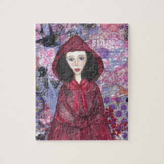 Little Red Riding Hood in the Woods 001.jpg Puzzles