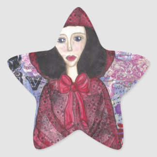 Little Red Riding Hood in the Woods 001.jpg Star Sticker