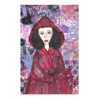 Little Red Riding Hood in the Woods 001.jpg Stationery Paper