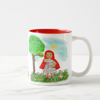 little red riding hood Two-Tone mug