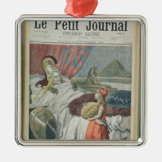 Little Red Riding Hood or France losing Fachoda Silver-Colored Square Decoration