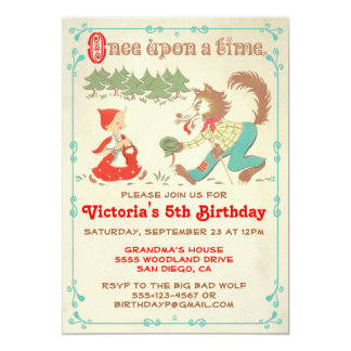 "Little Red Riding Hood Party Invitations 5"" X 7"" Invitation Card"