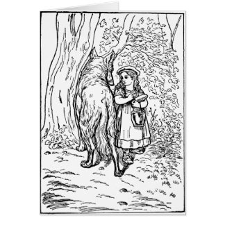 little-red-riding-hood-pictures-1 greeting card