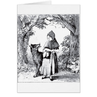 little-red-riding-hood-pictures-3 greeting card