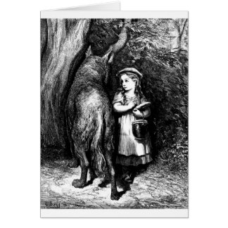little-red-riding-hood-pictures-8 greeting card