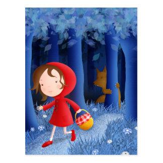 Little Red Riding Hood - postcard