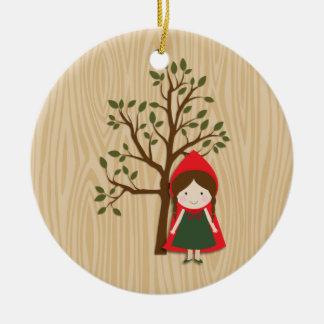 Little Red Riding Hood Round Ceramic Decoration