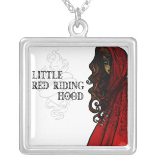 Little Red Riding Hood Silver Plated Necklace