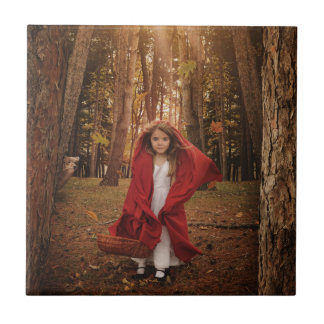 Little Red Riding Hood Small Square Tile