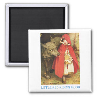 Little Red Riding Hood Square Magnet