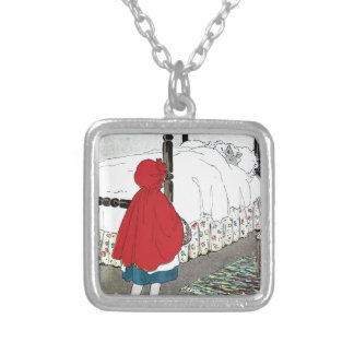 Little Red Riding Hood: What Grat Ears You Have! Silver Plated Necklace
