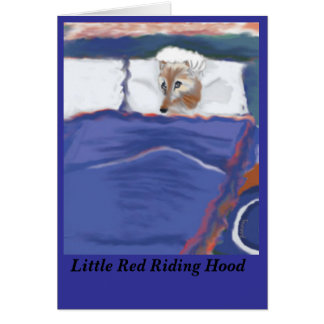 Little Red Riding Hood Wolf Card