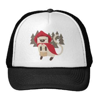 Little Red Riding Kitty Trucker Hats