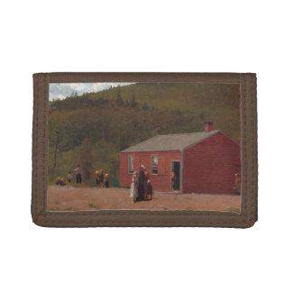 Little Red School Cabbin by Winslow Homer Tri-fold Wallet