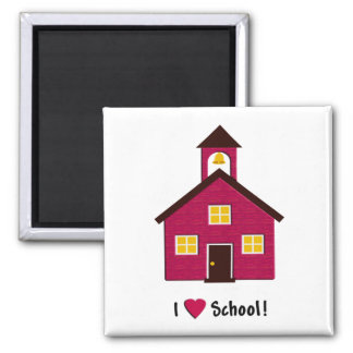 Little Red School House I Love School Magnet