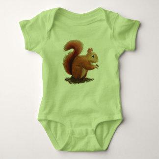 Little red squirrel baby bodysuit