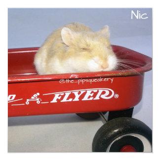 Little Red Wagon! 13 Cm X 13 Cm Square Invitation Card