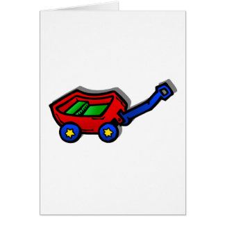 little red wagon greeting cards