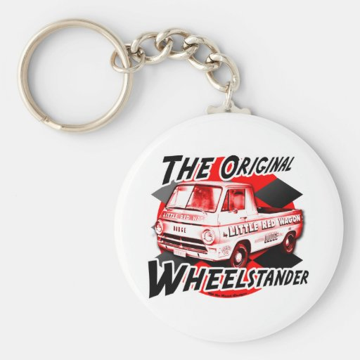 Little Red Wagon design Key Chain