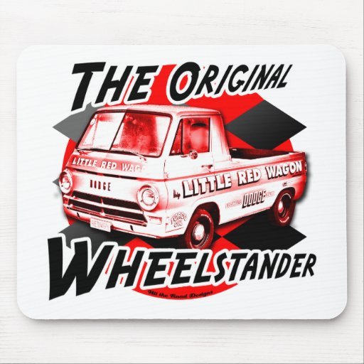 Little Red Wagon design Mouse Pads