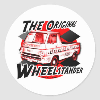 Little Red Wagon design Round Sticker