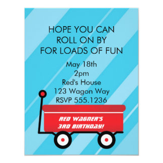 LITTLE RED WAGON INVITATIONS