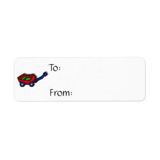 little red wagon return address label
