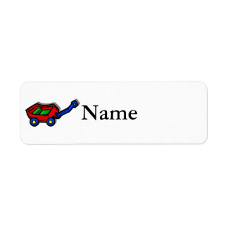 little red wagon return address label