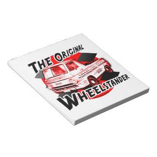 Little Red Wagon. The original wheelstander Notepad
