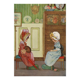Little Regency Ladies by Millicent Sowerby Poster