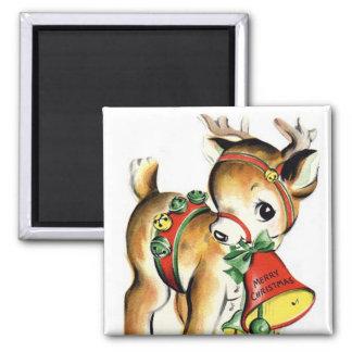 Little Reindeer Vintage Magnet