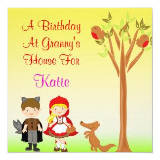 Little Riding Hood Birthday Celebration Card