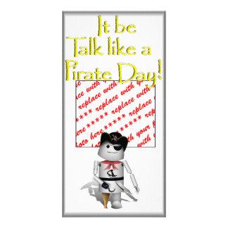Little Robo-x9 for Talk Like A Pirate Day Custom Photo Card