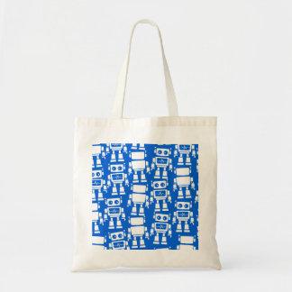 Little robots tote bag