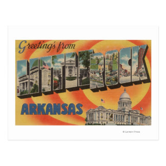 Little Rock, Arkansas - Large Letter Scenes Postcard
