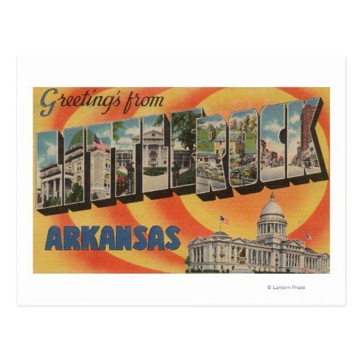 Little Rock, Arkansas - Large Letter Scenes Postcard