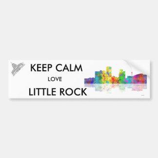 LITTLE ROCK,ARKANSAS SKYLINE - Car Bumper Stickers